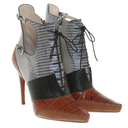 Christian Dior Boots Material mix with lacing