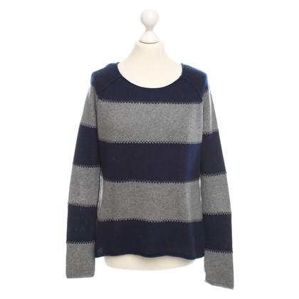Altre marche Heartbreaker - maglione con motivo a strisce di colore blu scuro / grigio