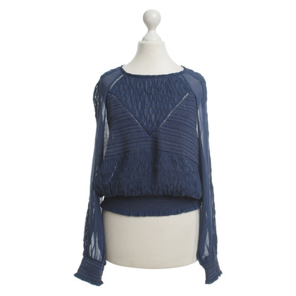 Isabel Marant Silk blouse in blue