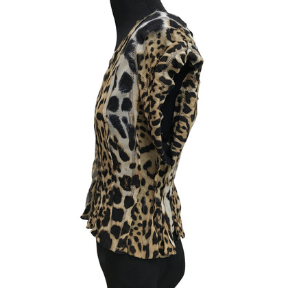 Yves Saint Laurent Bluse mit Leoparden-Print