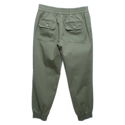 Set trousers in olive green