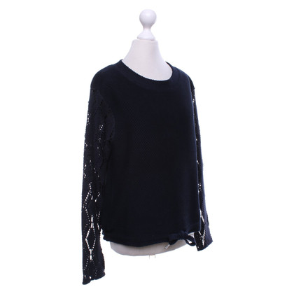 See by Chloé Sweater with perforated sleeves