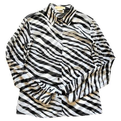 Michael Kors Blouse met zebra print