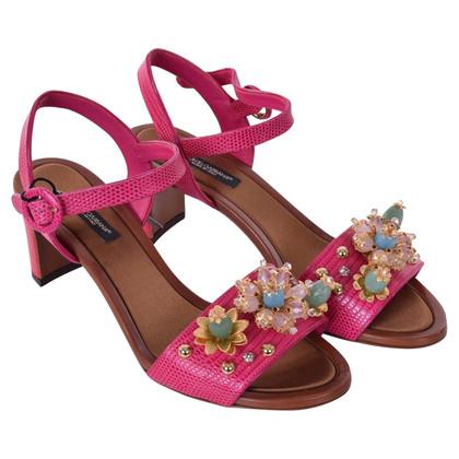 Dolce & Gabbana Sandals with gemstone trimming