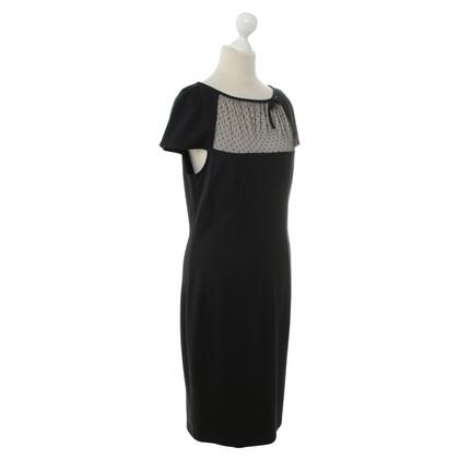 Red Valentino Kant jurk in donkerblauw