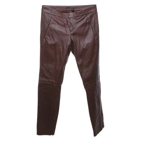 Strenesse Braune Hose aus Leder Braun