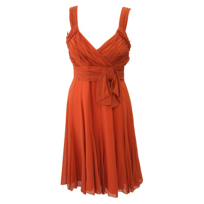 Karen Millen Silk dress in orange