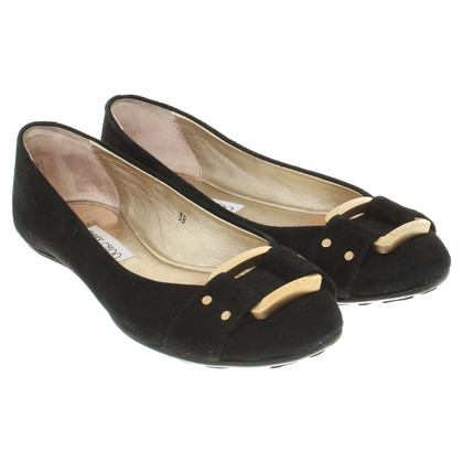 Jimmy Choo Wildlederballerinas in nero