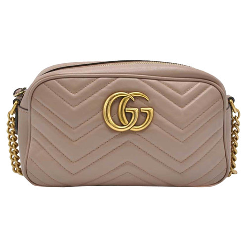 e71decf363ba Gucci GG Marmont Crossbody Bag Leather in Beige - Second Hand Gucci ...