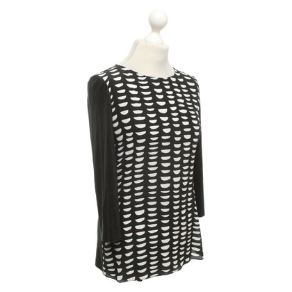 St. Emile top in black and white