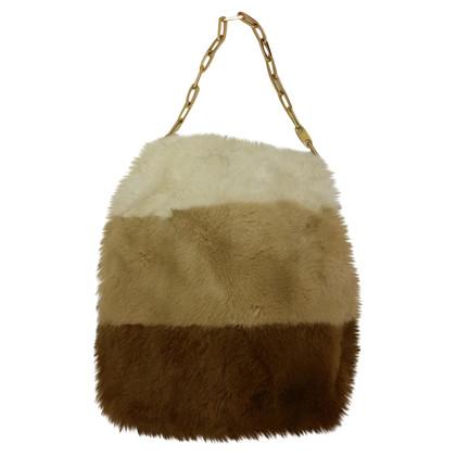 Gucci Hobo Bag mit Pelzbesatz