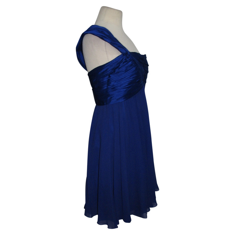 Kleid one shoulder blau
