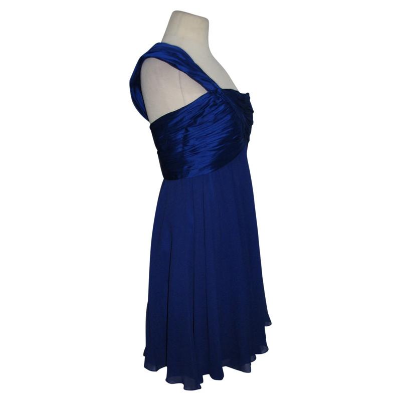 Kleid one shoulder blau