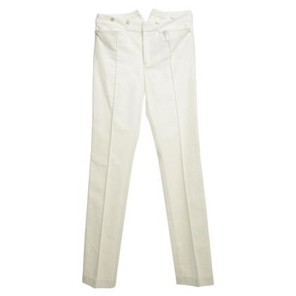 Joseph Velvet Pants in White