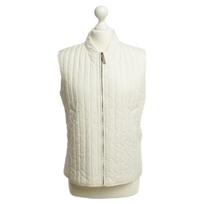 Max Mara Quilted vest in cream