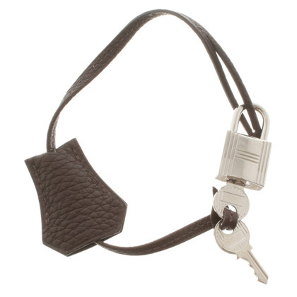 Hermès Keychain in brown