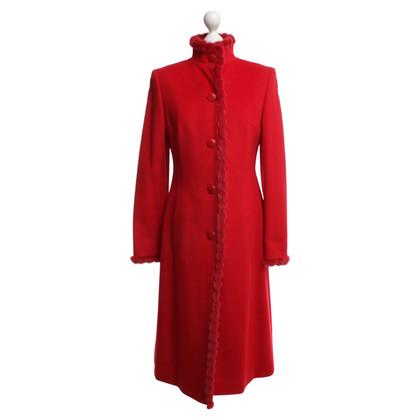 Escada Coat with fur trim