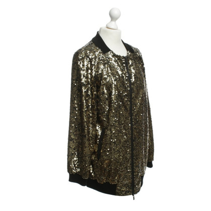 DKNY Giacca in seta con paillettes