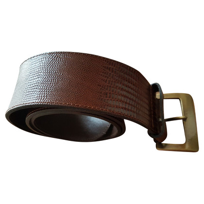 MCM leather belt