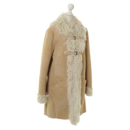 Comptoir des Cotonniers Sheepskin coat in beige