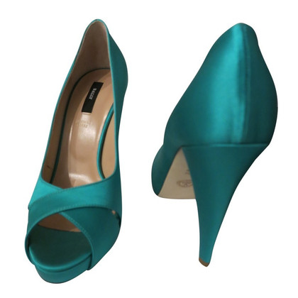 Bally Peep-toes in turquoise