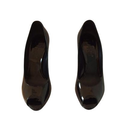 Christian Dior Black patent leather pumps