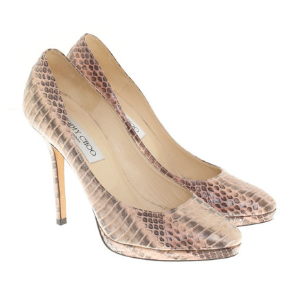 Jimmy Choo pumps van reptielenleer