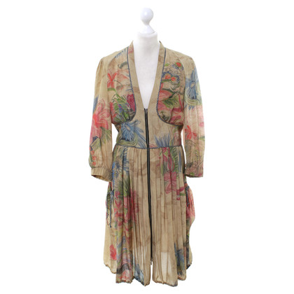 Wunderkind Silk dress with floral print