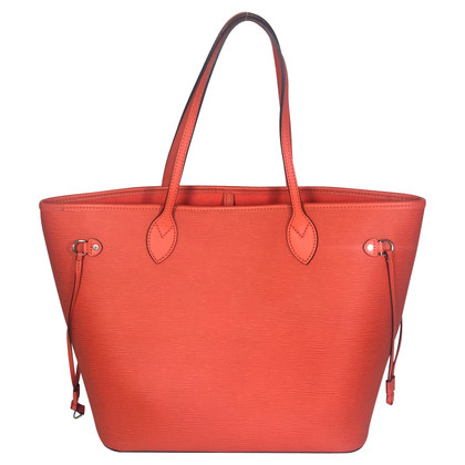 Louis Vuitton Neverfull MM Epi Leder Piment Orange