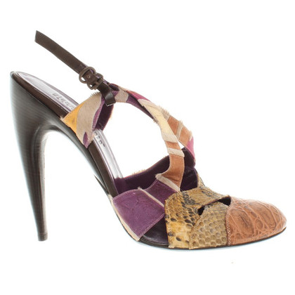 Gianni Barbato Colorful patterned pumps