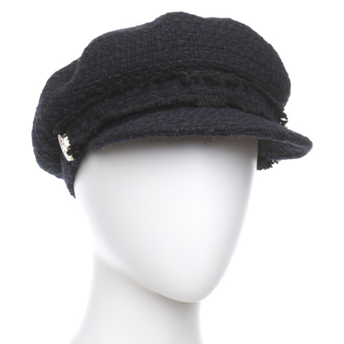 8d64aeb2356 Chanel Hat Cap in Blue - Second Hand Chanel Hat Cap in Blue buy used ...