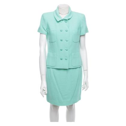 Chanel Costume bouclé verde menta