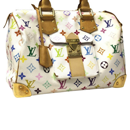 Louis Vuitton Speedy White Multicolor