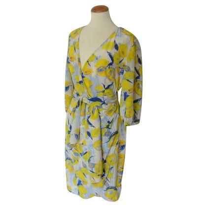 Blumarine zijden jurk met citroendruk