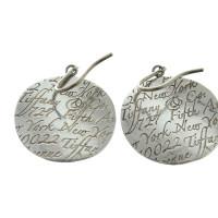Tiffany & Co. Long earrings with embossed logo
