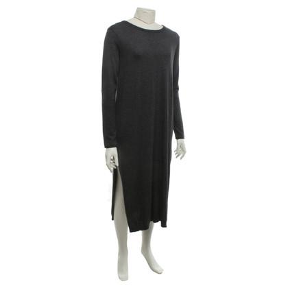 Twin-Set Simona Barbieri Knit dress in mottled dark gray