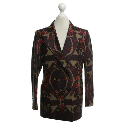 Dries van Noten Patterned blazer in silk