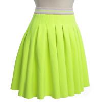 Manoush Pleated skirt in neon yellow