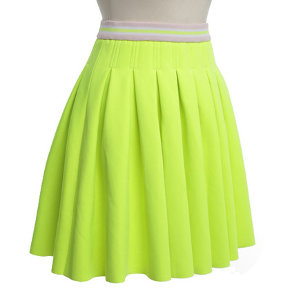 Manoush Pleated skirt in neon yellow