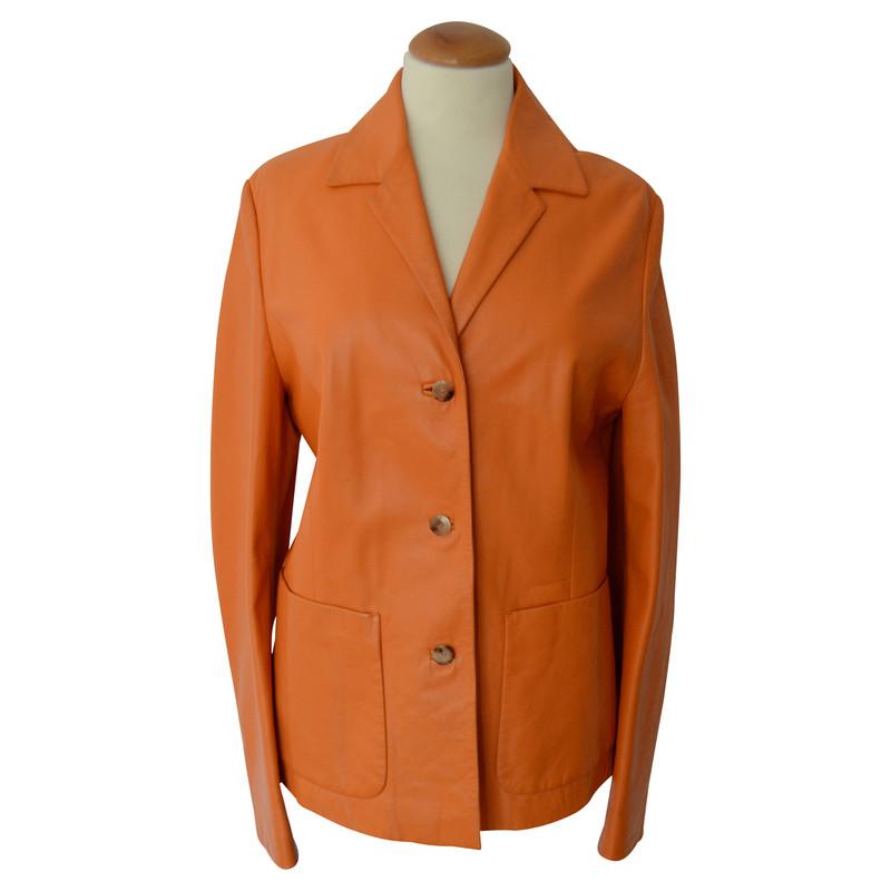 hugo boss lederjacke in orange second hand hugo boss lederjacke in orange gebraucht kaufen f r. Black Bedroom Furniture Sets. Home Design Ideas
