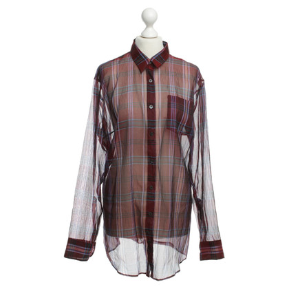 Dries van Noten Silk blouse with Plaid