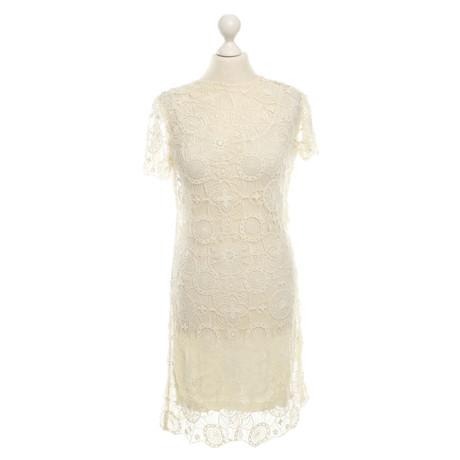 Ralph Lauren Cremefarbenes Kleid Creme