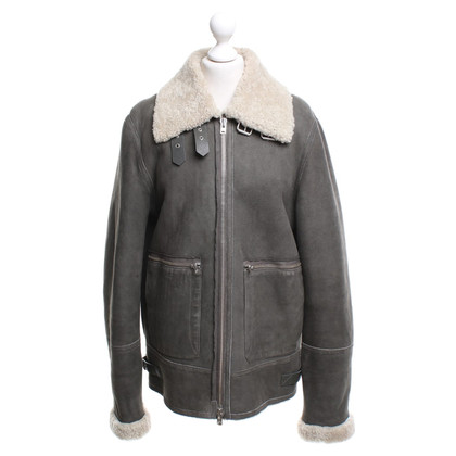 Closed Lambskin jacket in Khaki