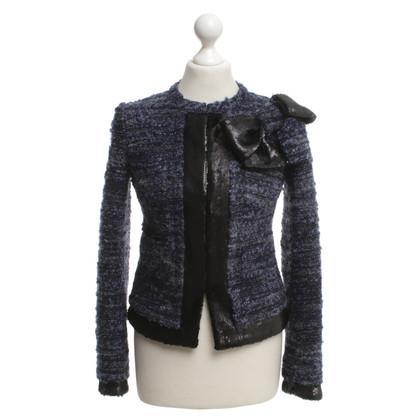 Twin-Set Simona Barbieri Bouclé jacket in dark blue