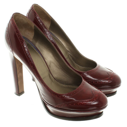 Navyboot pumps a Bordeaux
