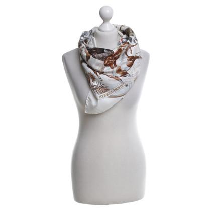 Hermès Sciarpa di seta con motivo
