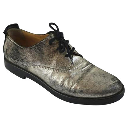 MM6 by Maison Margiela Derbies metalliques noir!