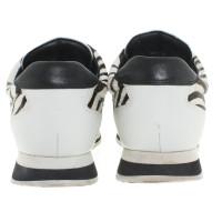 Pierre Balmain Sneakers in Schwarz/Weiß