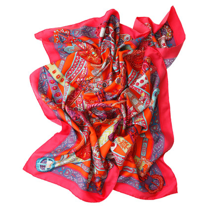 Hermès silk scarf with colorful print
