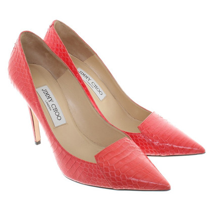Jimmy Choo pumps slangenhuid